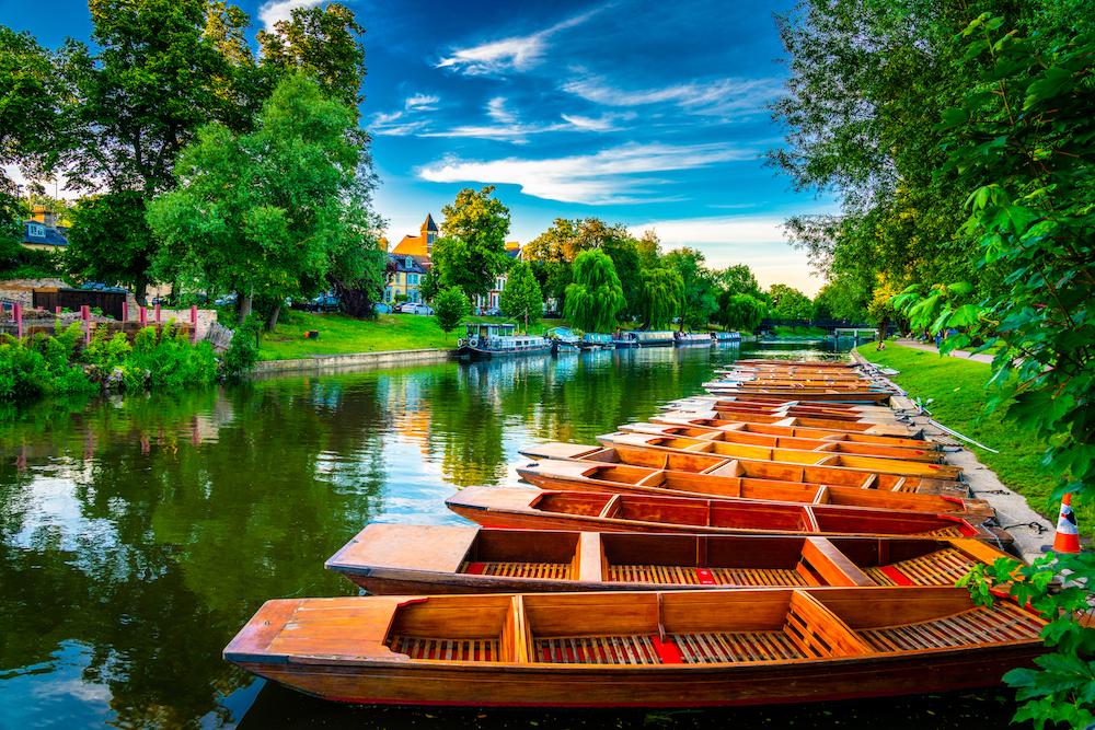 Cambridge City in England