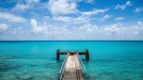 Dock at Bermuda beach