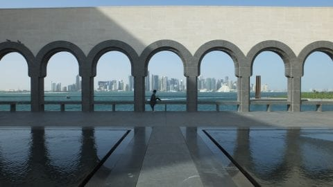 Doha view from the Museum of Islamic Art