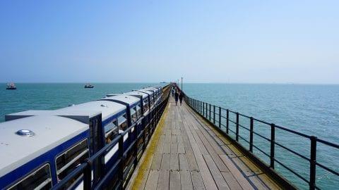 Southend Pier in Essex, UK